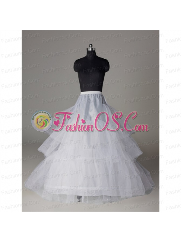 Popular Organza A Line 3 Layers White Petticoat