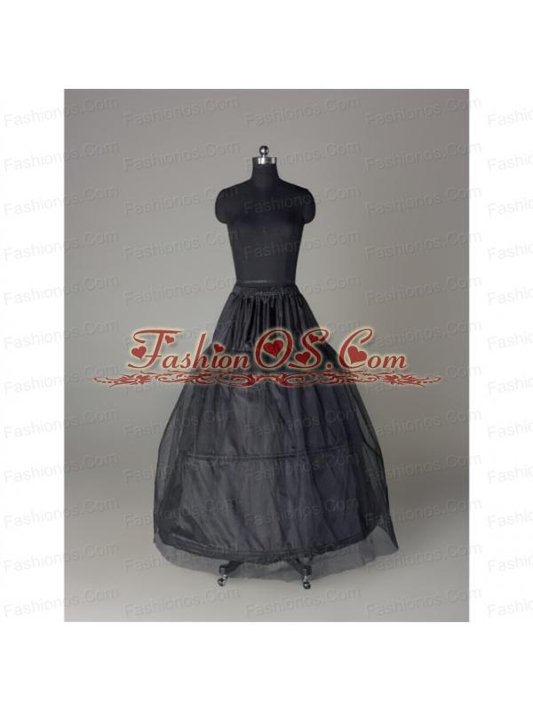Unique Organza Ball Gown Floor-length Black Petticoat