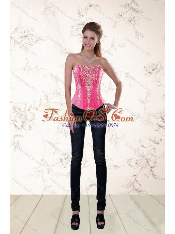 Famous Sweetheart Corset in Organza with Appliques
