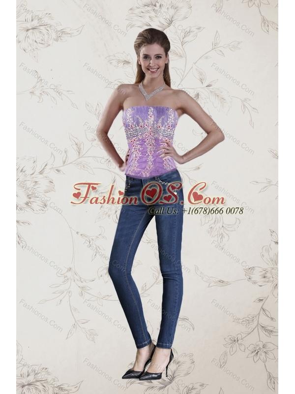 2015 Fashionable Strapless Multi Color Corset