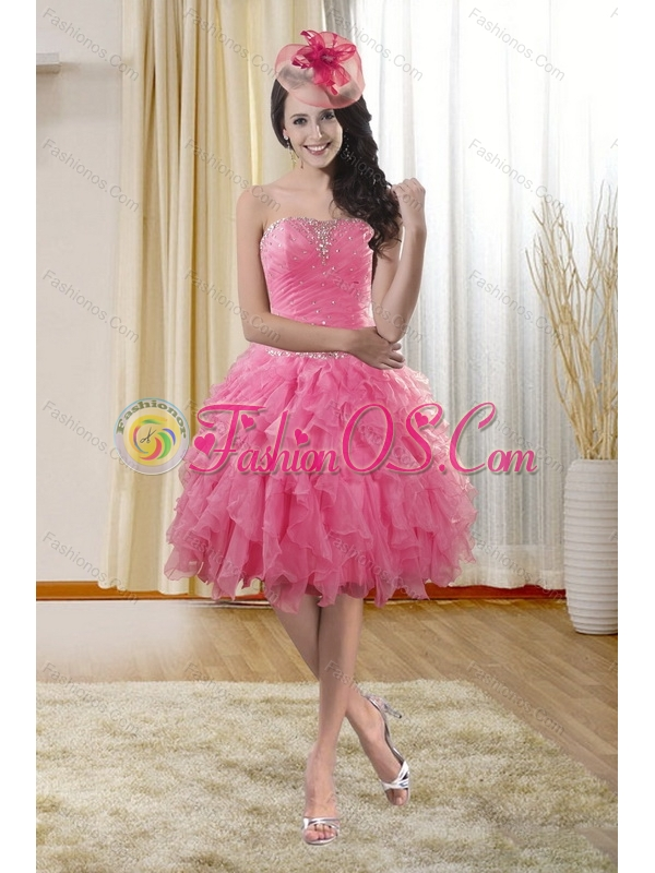 Pretty High Low Dresses for Prom Dress with Ruffles and Beading
