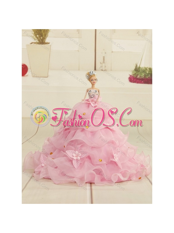2015 Sweetheart Hot Pink Sweet 16 Dresses with Beading and Ruffles