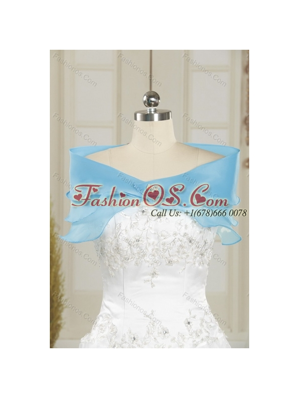 Cute Baby Blue Sweetheart Beaded Quinceanera Dress for 2015