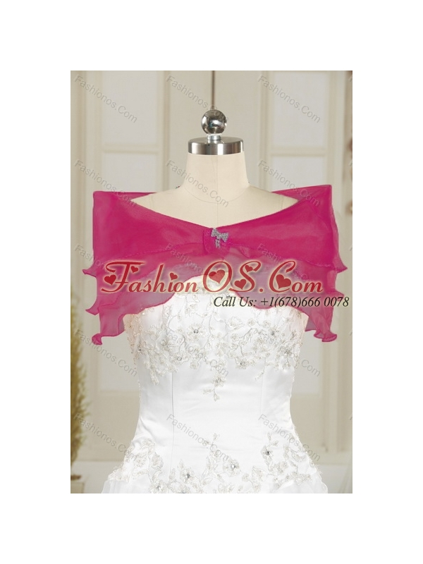 2015 Exquisite Hot Pink Quinceanera Dresses with Beading and Lace