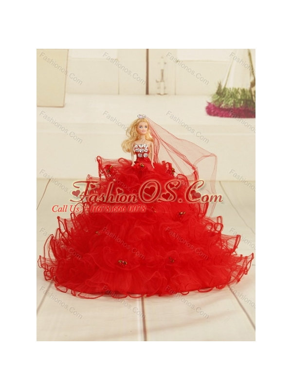 2015 Perfect Red Quinceanera Dresses with Appliques and Pick Ups