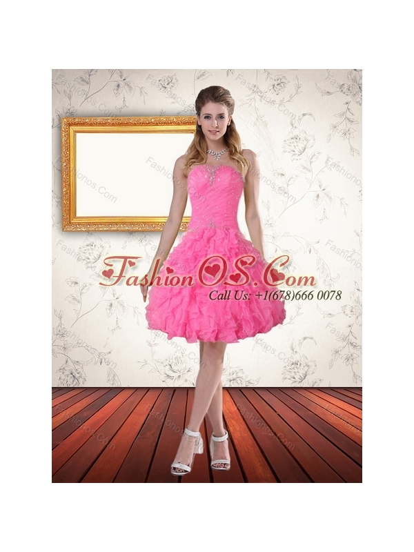 Fashionable Strapless Floor Length Quinceanera Dress with Beading and Ruffles