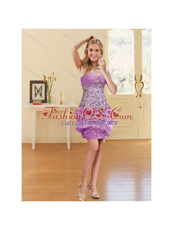 2015 Gorgeous Lilac Sweetheart 2015 Quinceanera Dresses with Beading and Pick Ups