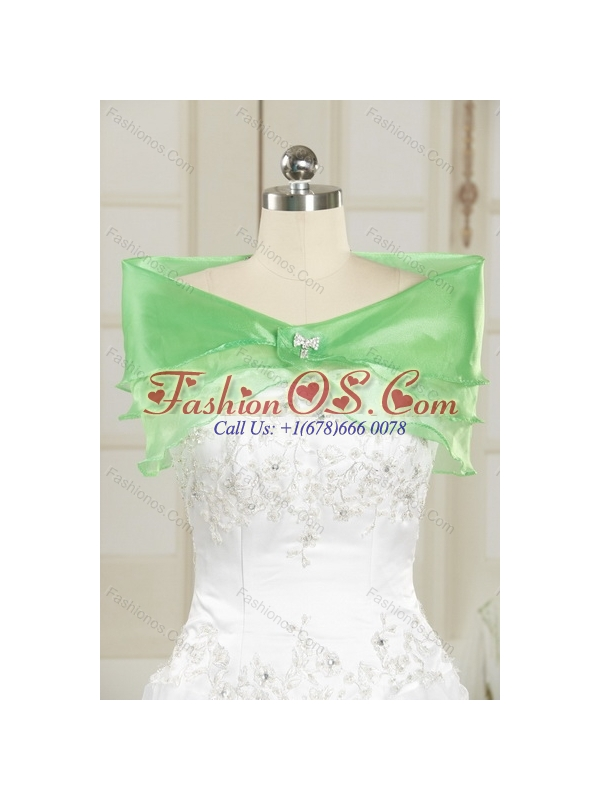 2015 Sophisticated Dark Green Quinceanera Dresses with Beading and Appliques