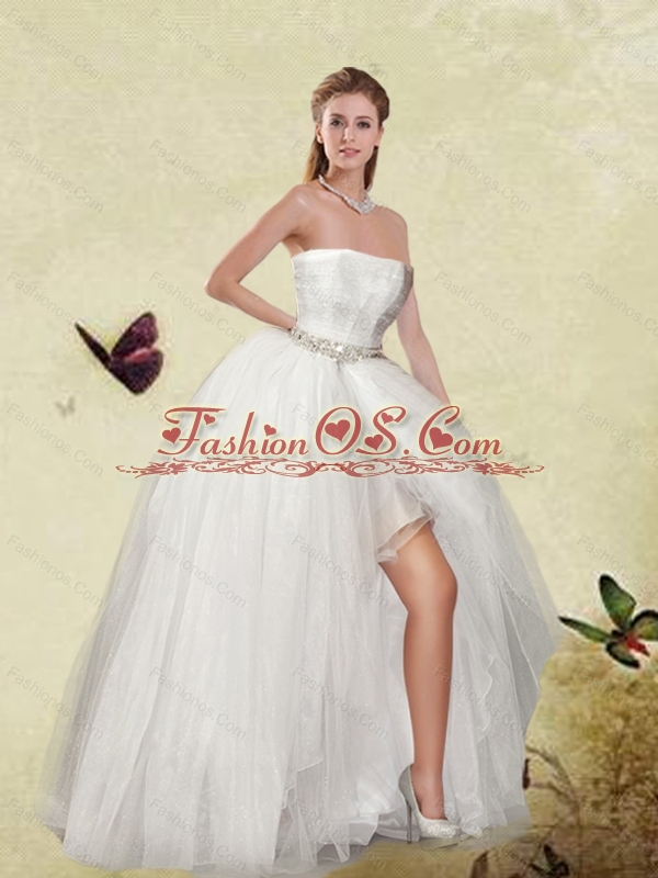 New Arrival Ball Gown White Sweet Sixteen Detachable Dresses for 2015