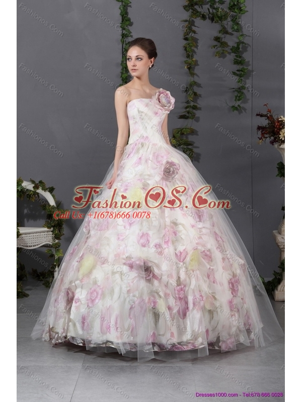 2015 New Arrival Multi Color Quinceanera Gowns with Hand Made Flowers