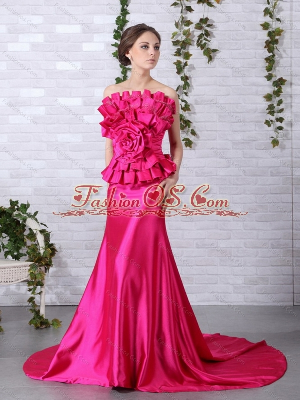 Brand New Strapless 2015 Plus Size Prom Dress with Bowknot and ...