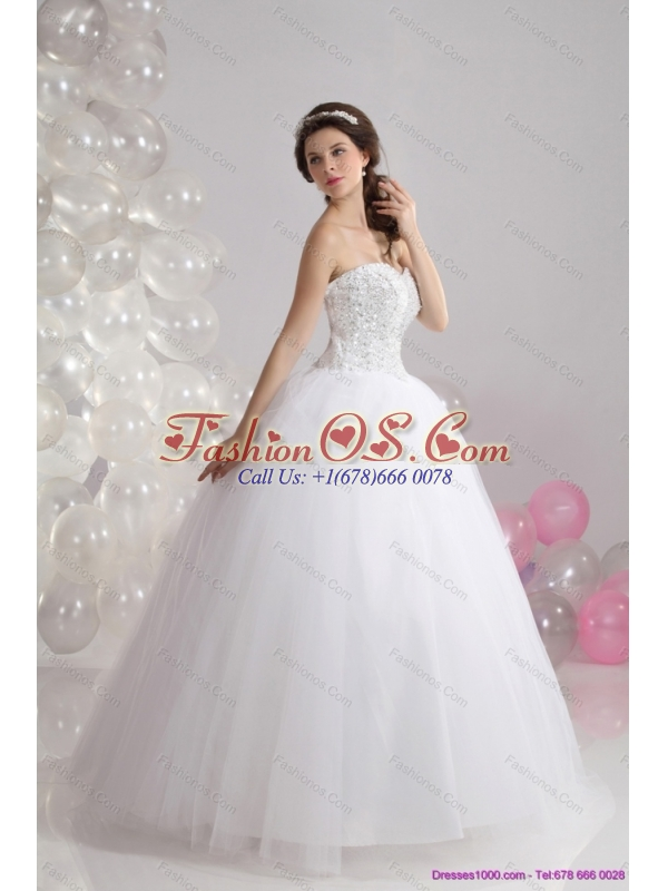 2015 Brand New Sweetheart Wedding Dress with Beading