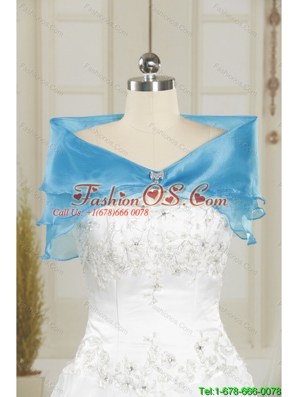 2015 Pretty V Neck Beading Backless Prom Dress in Royal Blue