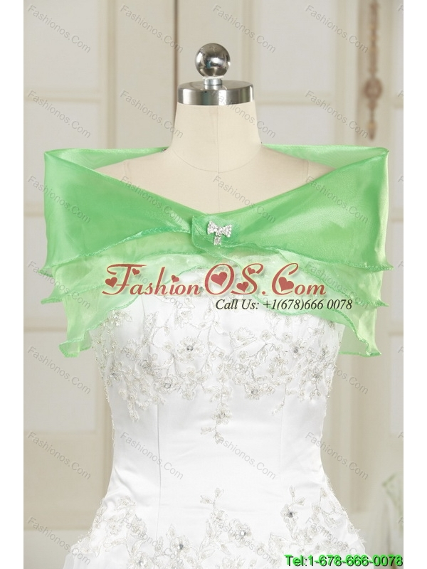 2015 Modest A Line Sweetheart Beading Chiffon White Elegant Bridesmaid Dresses