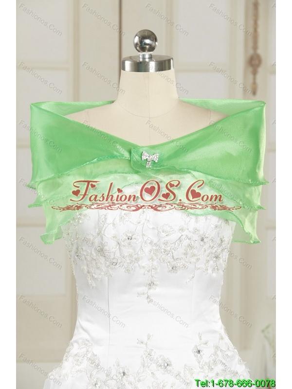 Feminine 2015 Empire Backless V Neck Apple Green Bridesmaid Dresses with Beading