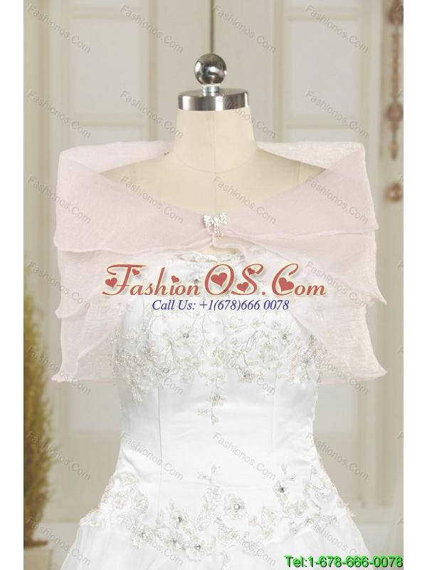 2015 Cheap Scoop Beading Empire Rose Pink Bridesmaid Dress