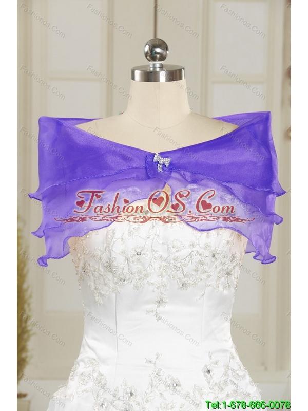 Modest 2015 Empire V Neck Chiffon Beading Bridesmaid Dresses in Dark Purple