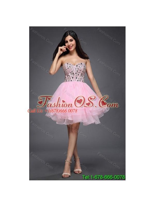 Orange Pink Short Prom Dresses