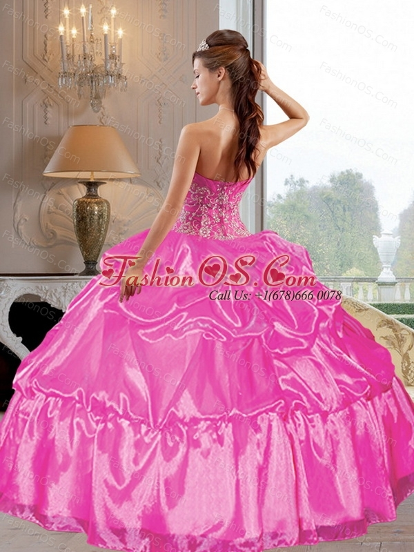 2015 Custom Made  Strapless Ball Gown Quinceanera Dresses with Appliques