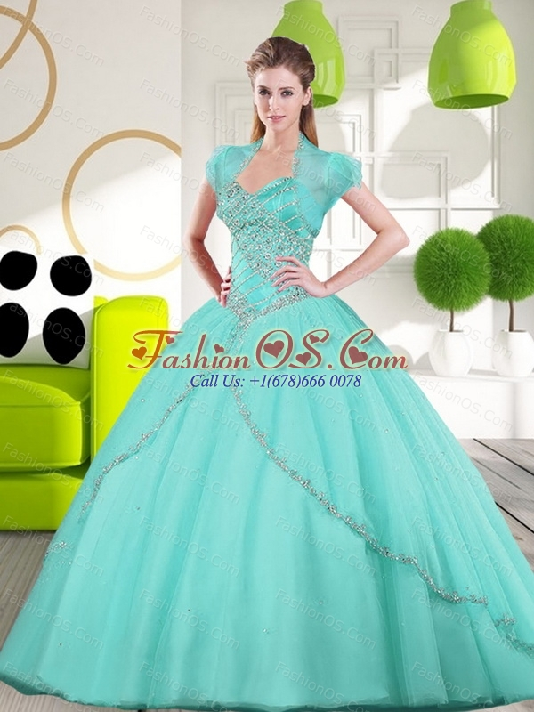 2015 Custom Made Sweetheart Ball Gown Quinceanera Gown with Appliques
