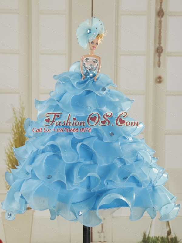 Custom Made Sweetheart Multi Color 2015 Quinceanera Gown with Appliques and Ruffles