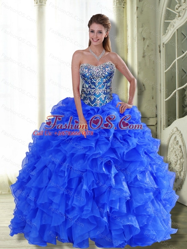 Popular Strapless 2015 Sweet 16 Dresses with Beading and Ruffles