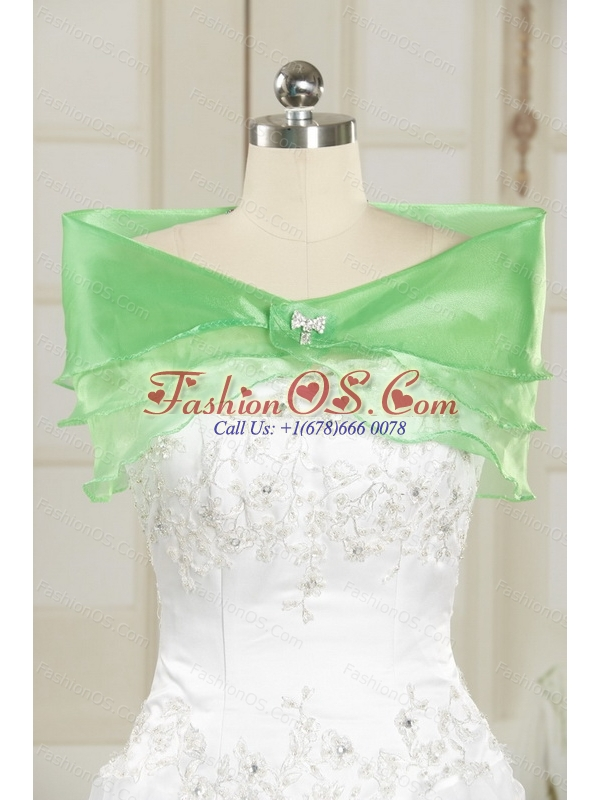 Beautiful Sweetheart Spring Green 2015 Quinceanera Dresses with Beading and Ruffles