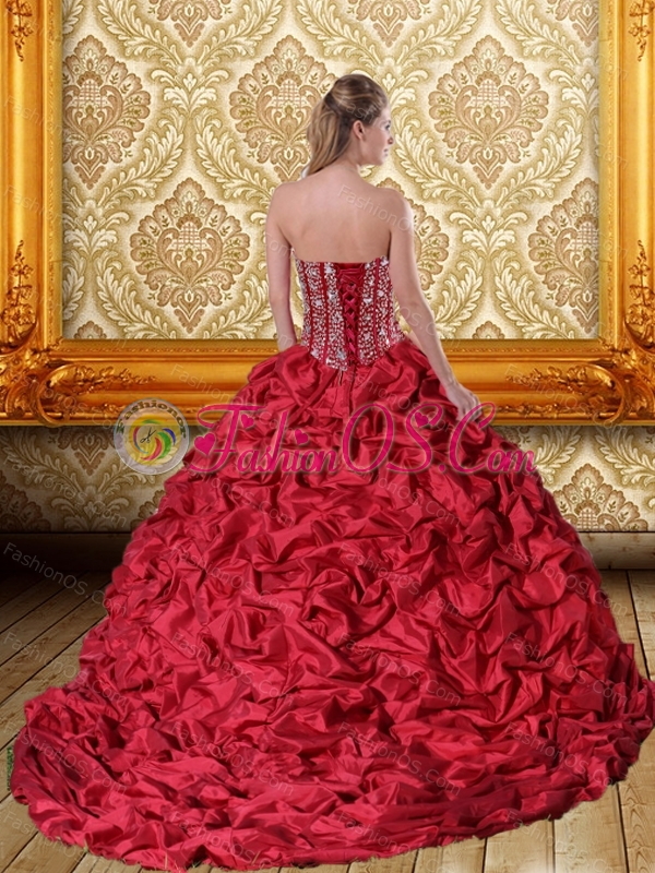 Cute Beading and Pick Ups Sweetheart Quinceanera Gown for 2015