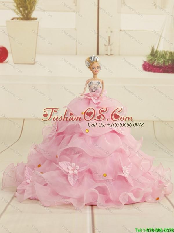 New Sweetheart Sweep Train Beading and Ruffles Princesita Dress for 2015