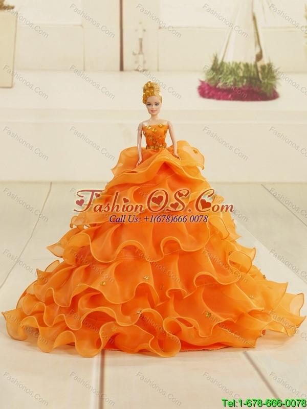 Sweetheart Beading and Ruffles 2015 Brand New Yellow Princesita Dress