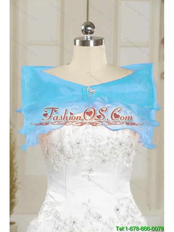 Elegant Sweetheart Embroidery Princesita Dress in Blue