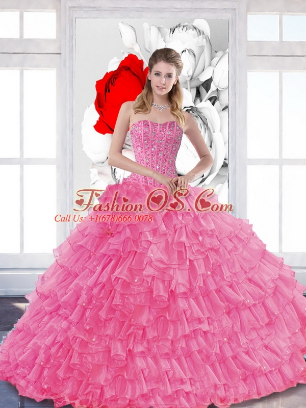 Sophisticated 2015 Quinceanera Dresses with Beading and Ruffled Layers