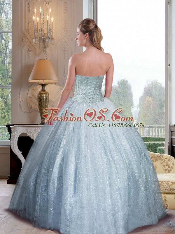2015 Fashionable Sweetheart Ball Gown Quinceanera Dresses with Beading