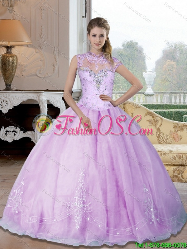 Elegant 2015 Sweetheart 15 Quinceanera Dresses with Beading and Appliques