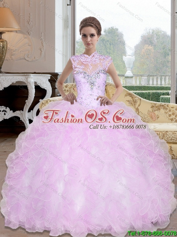 New Style Sweetheart Beading and Ruffles 15 Quinceanera Dresses for 2015