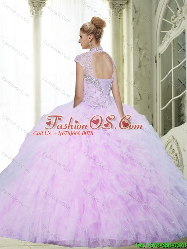 2015 Perfect Ball Gown Quinceanera Dresses with Beading and Ruffles