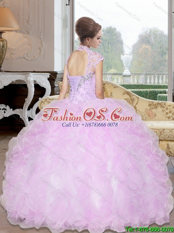 Custom Made Beading and Ruffles Ball Gown Quinceanera Dresses  for 2015