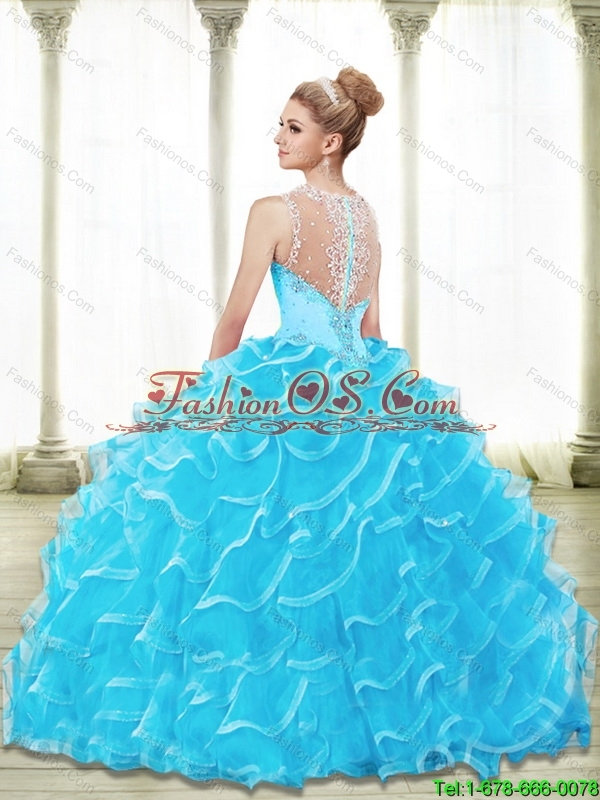 Pretty Sweetheart 2015 Sweet 16 Dresses with Beading and Ruffled Layers