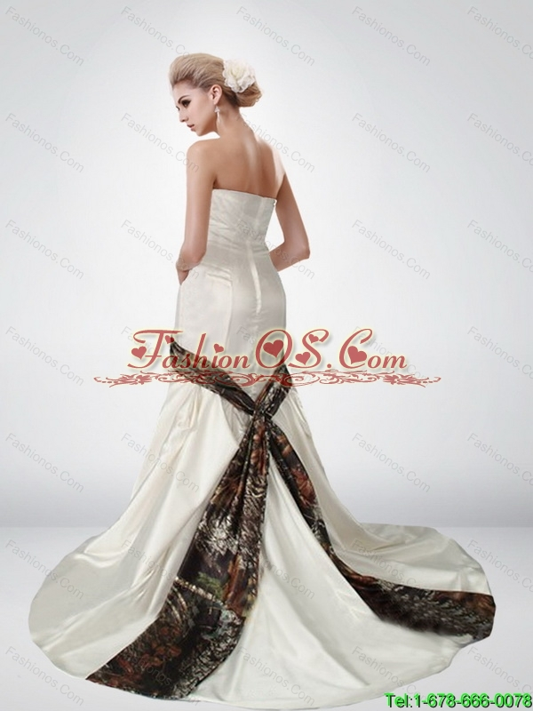 Beautiful Mermaid Sweetheart Multi Color Camo Wedding Dresses