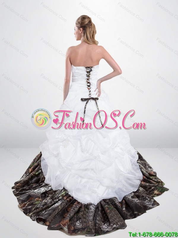 Elegant Lace Up Beaded New Wedding Dresses with Chapel Train