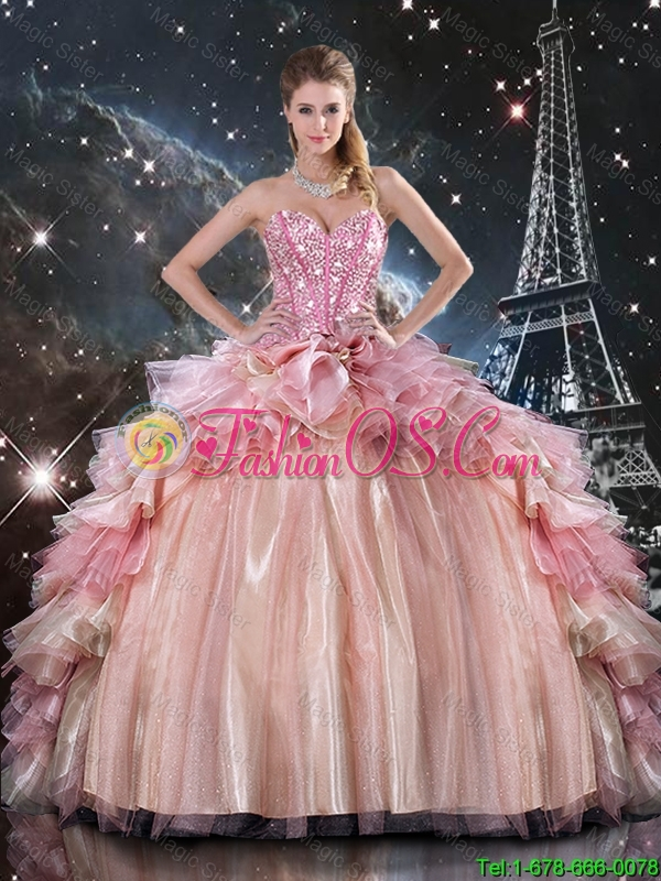 Beautiful 2016 Winter Ball Gown Beaded Tulle Detachable Sweet 16