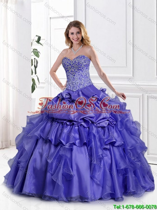 Fashionable Sweetheart Quinceanera Gowns with Appliques and Beading