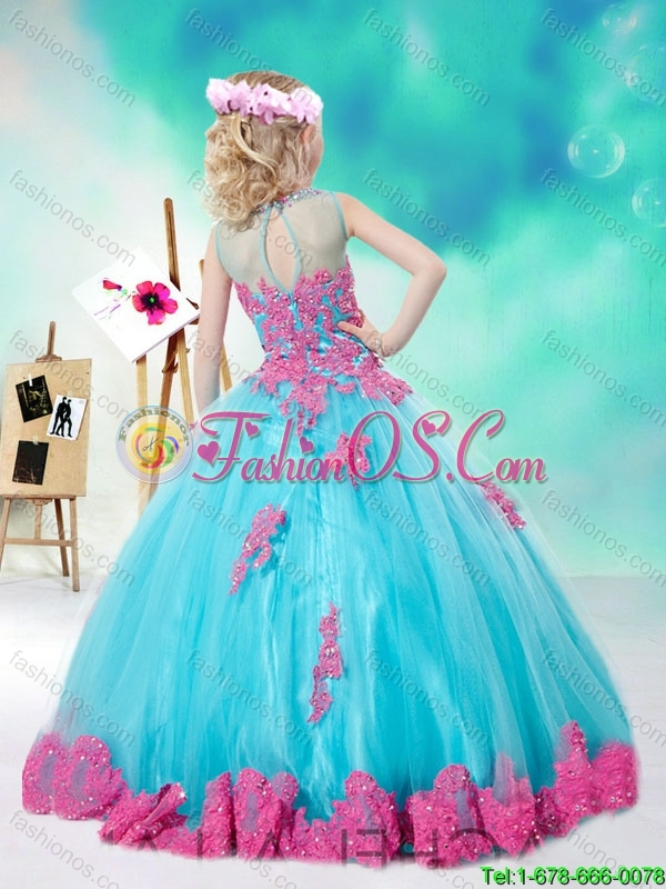 2016 Cheap Scoop Multi Color Mini Quinceanera with Appliques