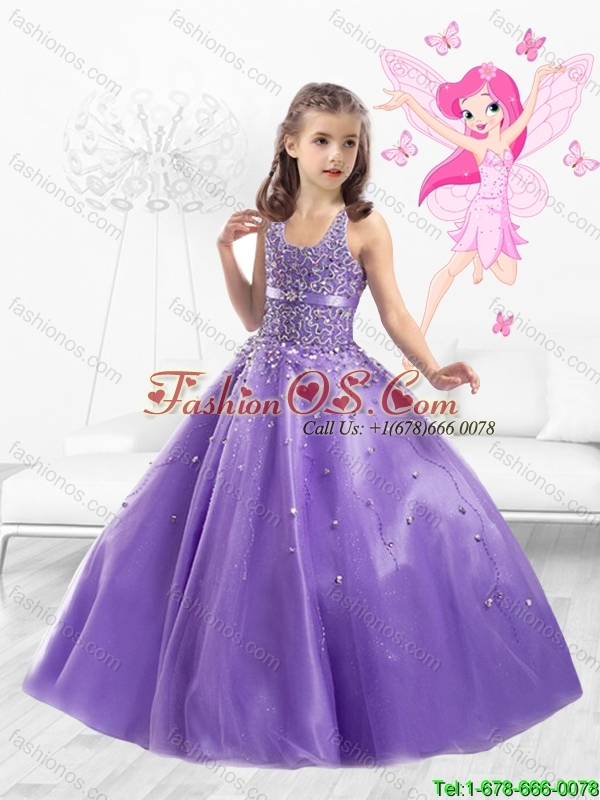 2016 Cheap Tulle Straps Mini Quinceanera Dresses with Beading