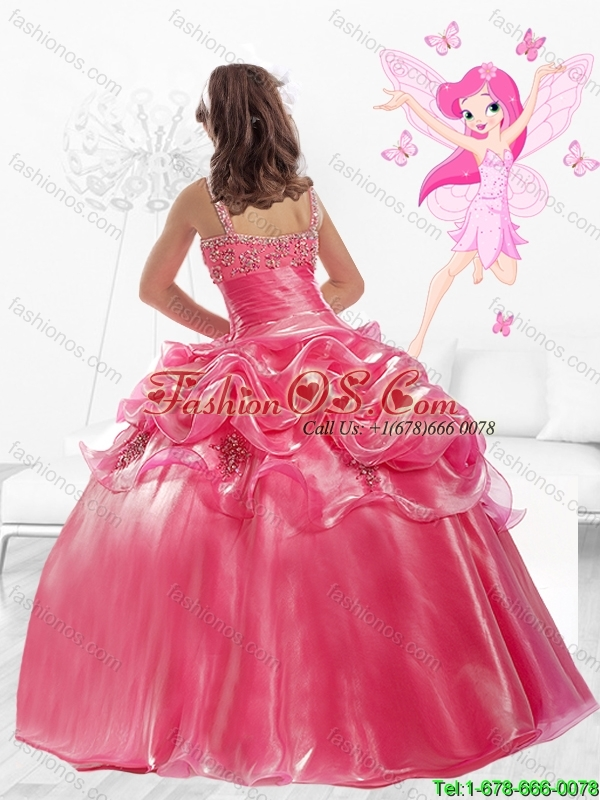 Discount Straps Beaded Mini Quinceanera Dresses with Side Zipper