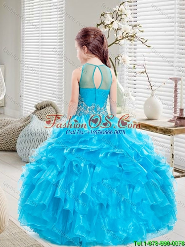 Pretty Beaded and Ruffles Mini Quinceanera  Dresses for 2016