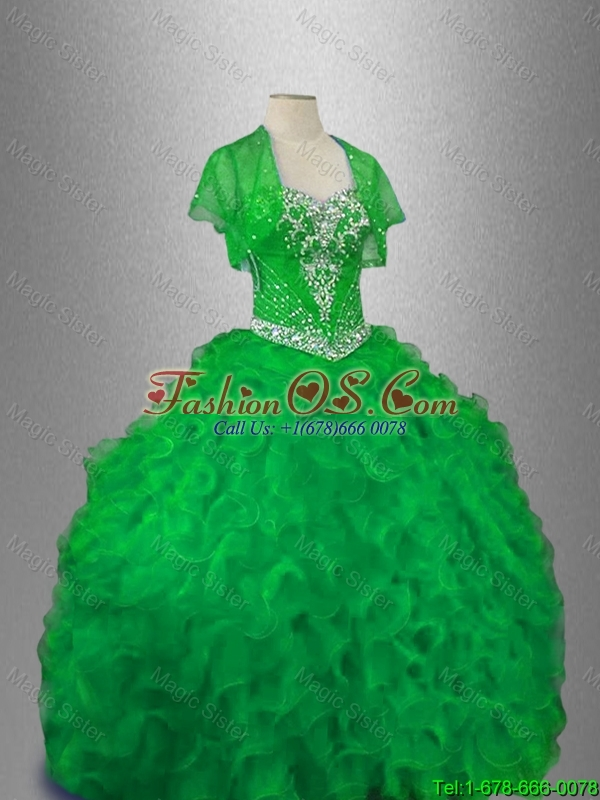 2016 Gorgeous Sweetheart  Luxurious Quinceanera Gowns with Beading