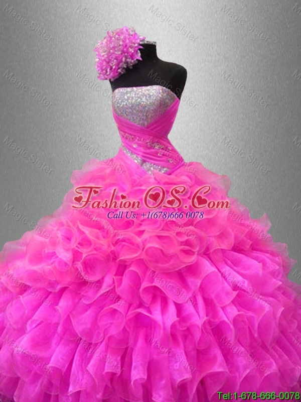 2016 New arrival Fall Ball Gown New Style Quinceanera Dresses with Sequins