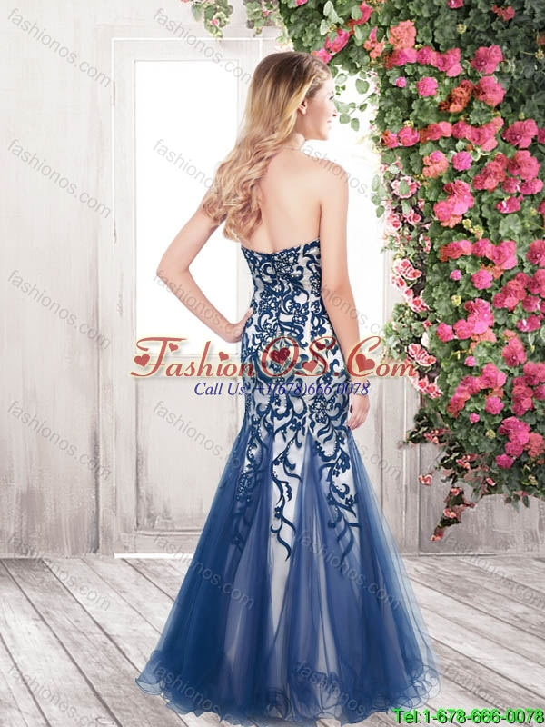 Gorgeous Exclusive Appliques and Beaded Mermaid New Style Prom Dresses in Black
