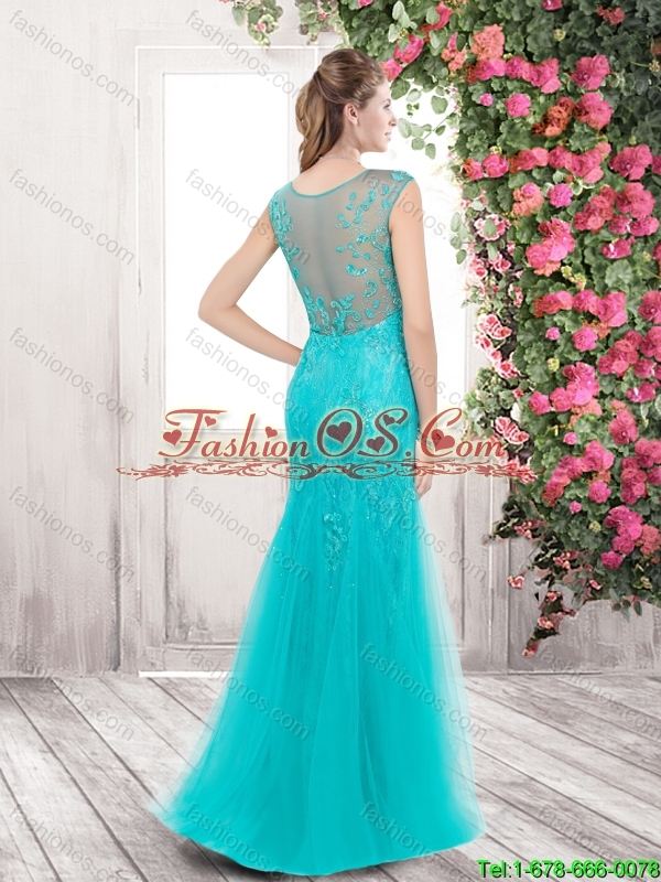 New Arrivals Gorgeous Mermaid Bateau Prom Dresses with Lace and Beading